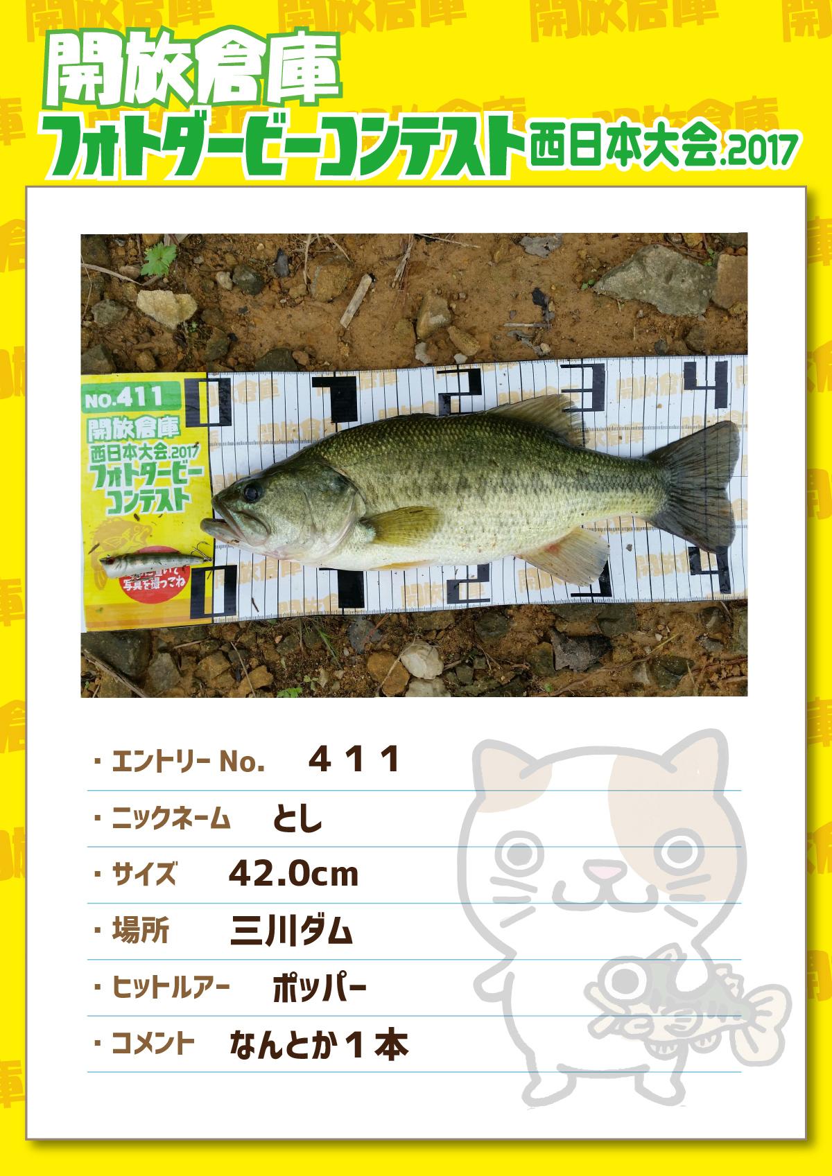 No.411 とし 42.0cm 三川ダム ポッパー なんとか1本