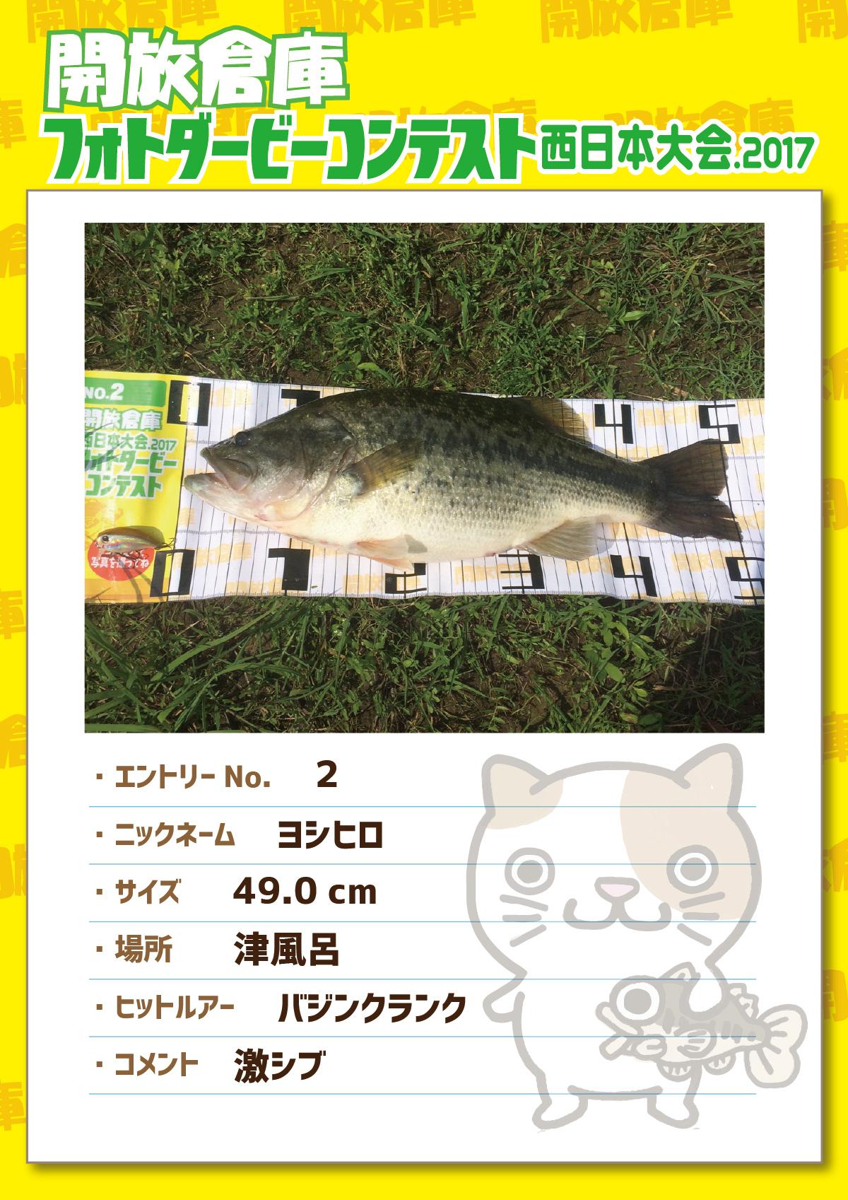 No.2 ヨシヒロ 49.0cm 津風呂 バジングランク 激シブ