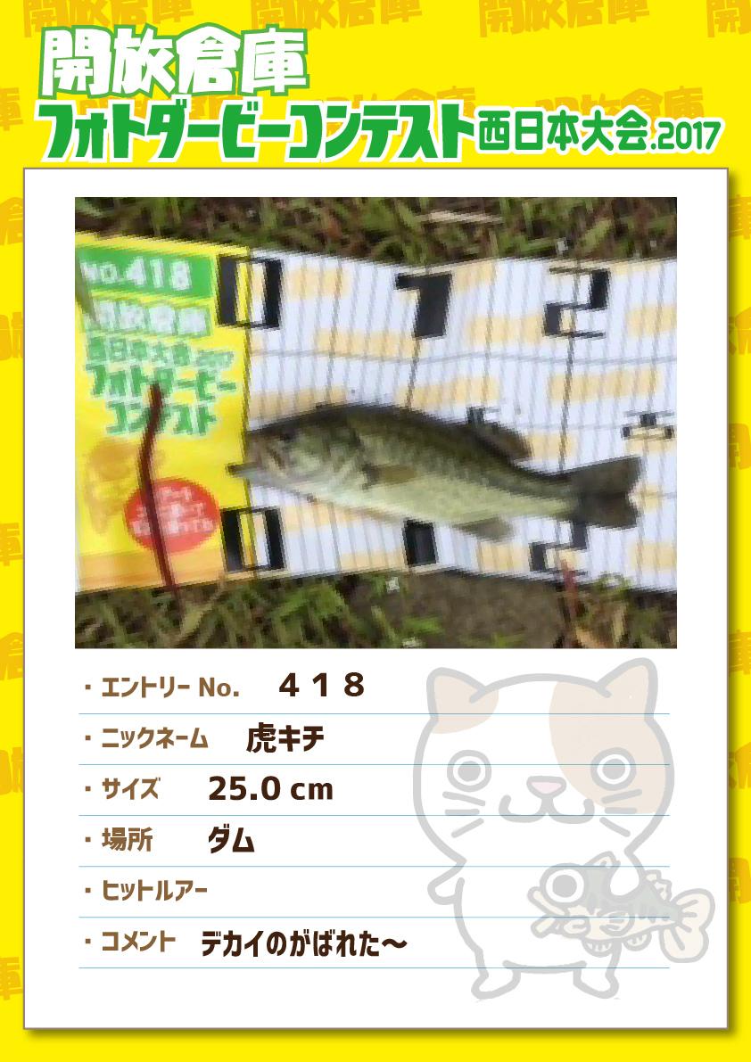 No.418 虎キチ 25.0cm ダム   デカイのがばれた~
