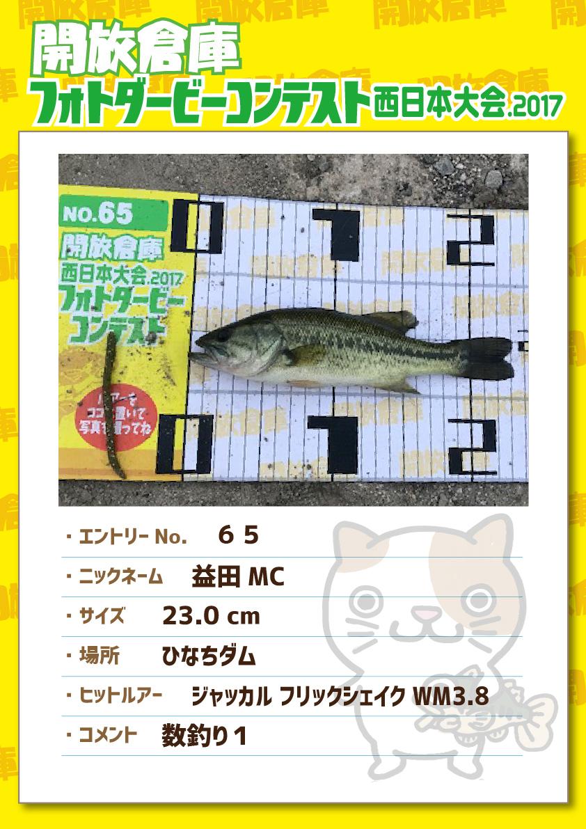 No.065 益田MC 23.0cm ひなちダム ジャッカルフリックシェイクWM3.8 数釣り1