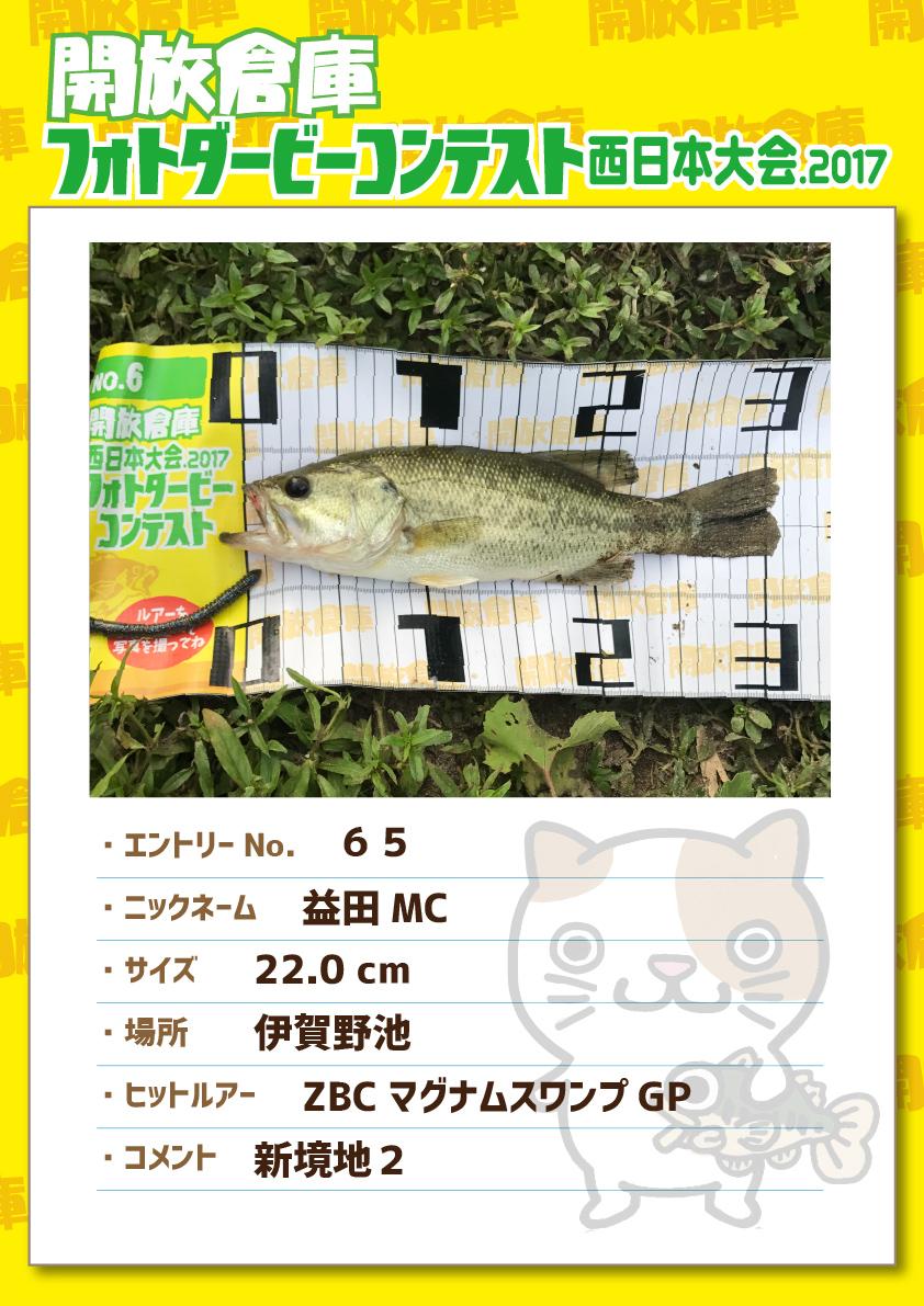 No.065 益田MC 22.0cm 伊賀野池 ZBCマグナムスワンプGP 新境地2