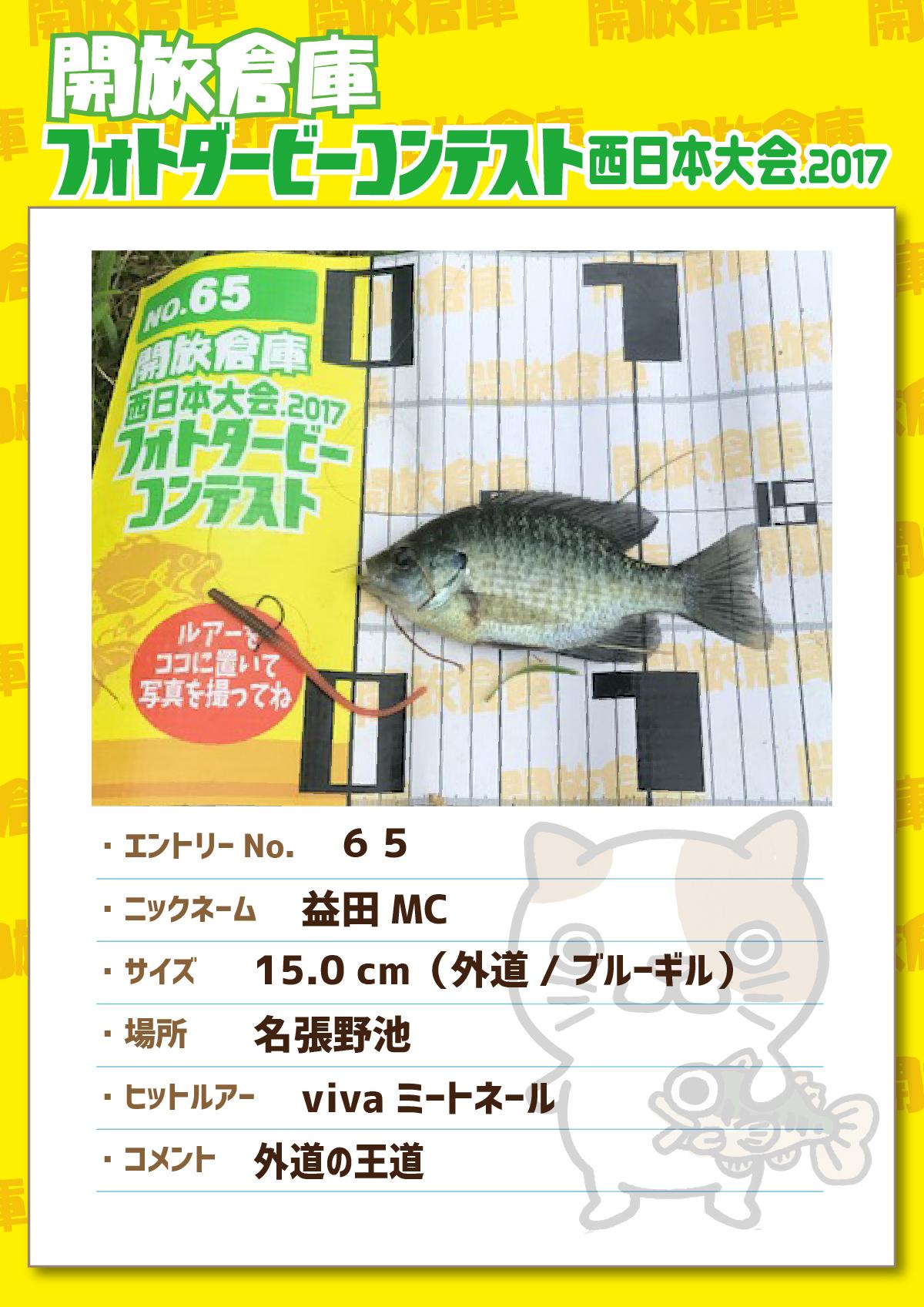 No.065 益田MC 15.0cm外道 名張野池 vivaミートネール 外道の王様