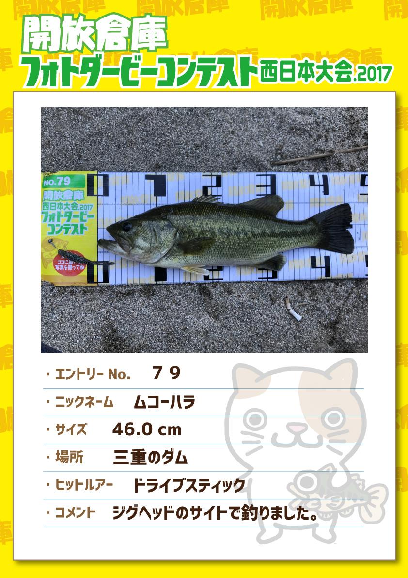 No.079 ムコーハラ 46.0cm 三重のダム ドライブスティック ジグヘッドのサイトで釣りました。