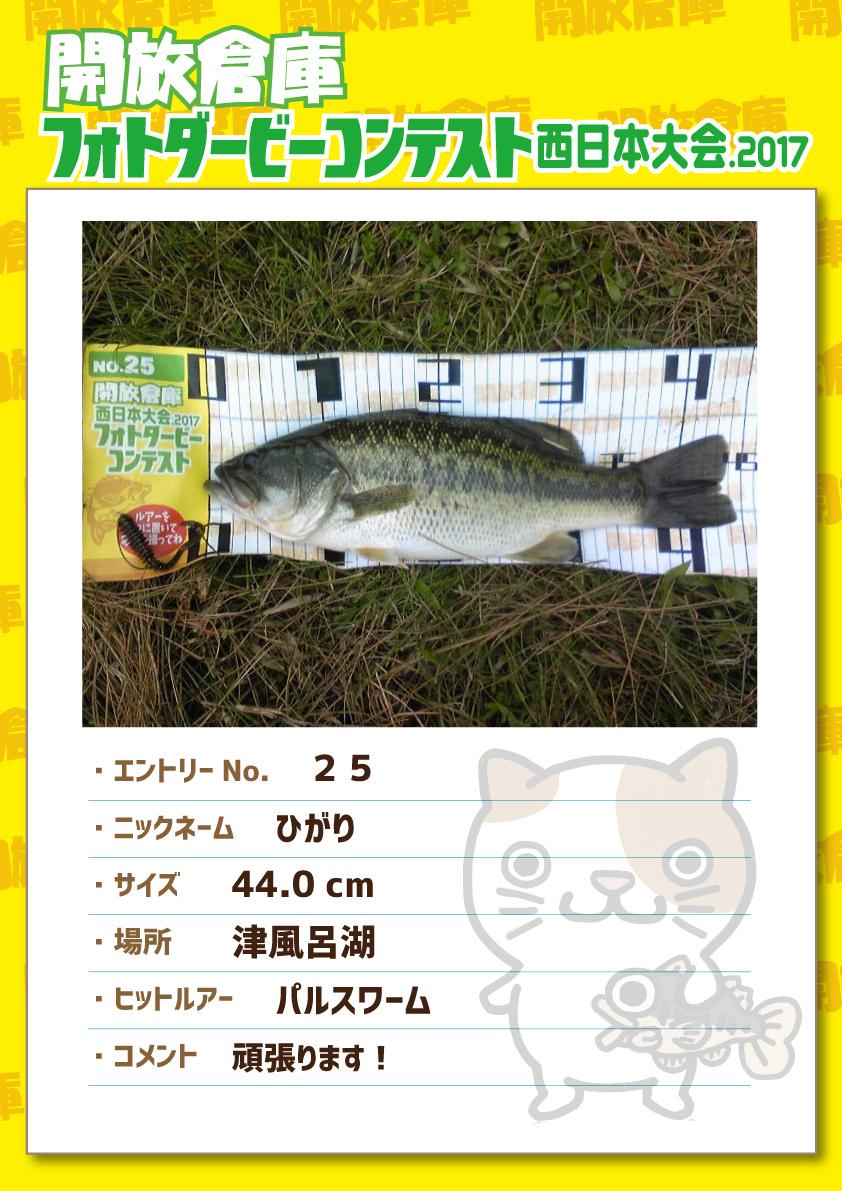 No.025 ひがり 44.0cm 津風呂湖 パルスワーム 頑張ります!